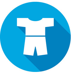 Tshirt with shorts icon clothing symbol vector