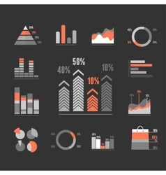 Graphs icons set vector