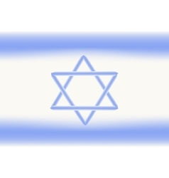 Flag of israel independence day of the state of vector