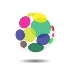 Circular Bubble Logo Icon vector image