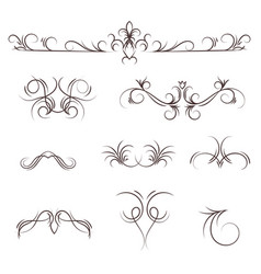 a collection of decorative monograms and a vector image vector image