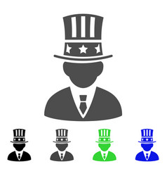 american capitalist flat icon vector image vector image