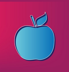 Apple sign blue 3d printed vector