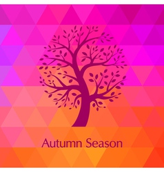 Autumn modern background vector