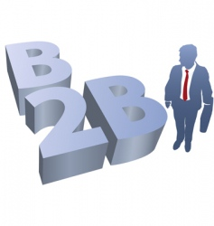 b2b business man ecommerce vector image vector image