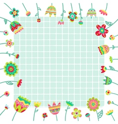 background with doodle flowers and space for text vector image vector image