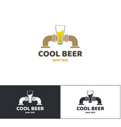 Beer logo five vector