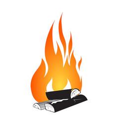 Bonfire design isolated on white vector