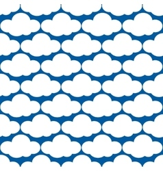 clouds weather seamless pattern vector image