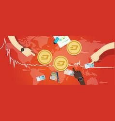 Dash coin decrease exchange value digital virtual vector