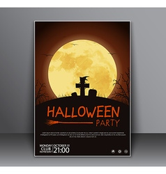 Design a poster flyers cover for halloween vector