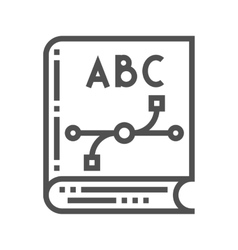 Design know icon vector image