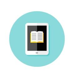 Ebook Flat Circle Icon vector image