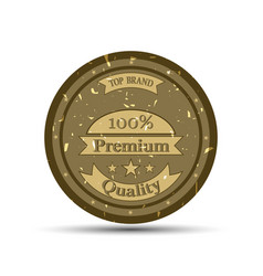 emblem premium quality vector image vector image