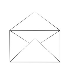 envelope open isolated vector image