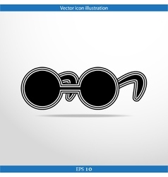 glasses web flat icon vector image