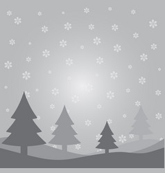 gray christmas card vector image vector image