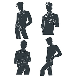 handsome men vector image
