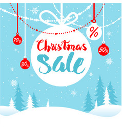 holiday winter sale vector image