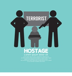 Hostage concept vector