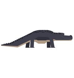 Isolated abstract crocodile vector