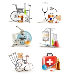 Medical Supply Elements Set vector image vector image