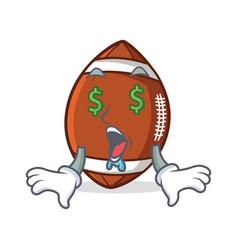 money eye american football character cartoon vector image