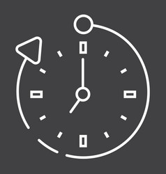 Overtime line icon business and clock vector