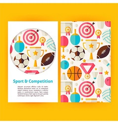 Sport and competition banners set template vector