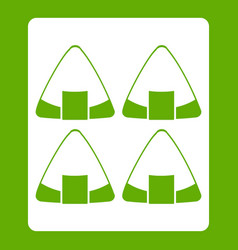 Sushi icon green vector