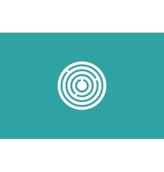Target logo Round logo Planet logo Circle logo vector image vector image