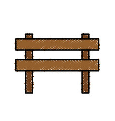 Wooden barrier icon vector