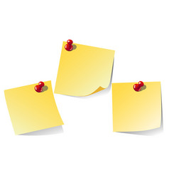 yellow note isolated on white background vector image