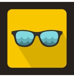 Sunglasses for surfing icon flat style vector
