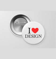 Button badge vector