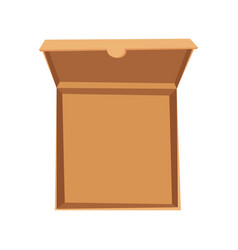 Open pizza box delivery vector