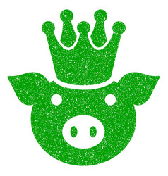 King pig icon grunge watermark vector