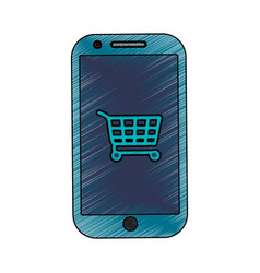 Smartphone shopping online vector