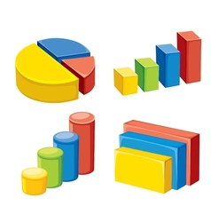 Colorful geometric or graphs and charts vector
