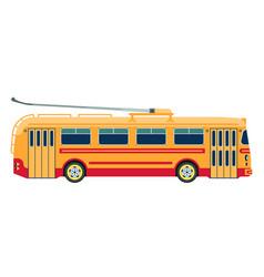 Trolleybus public transport or electric trolley vector