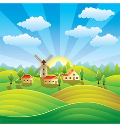 Rural scenery vector