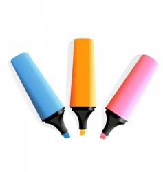 3 markers vector image