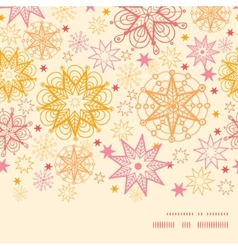 Warm stars horizontal frame seamless pattern vector