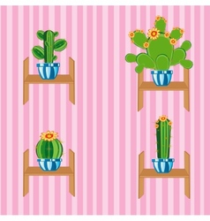 Cactuses on regiment vector