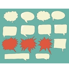 Speech bubbles voice bubble set hand drawing vector