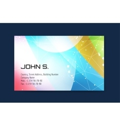 business card template Globe and ring logo vector image