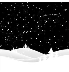 christas snow hills vector image