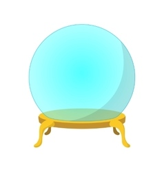 Empty glass ball cartoon icon vector