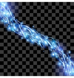 Energy flow on transparent background light effect vector