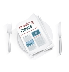 Breaking news tablewares vector